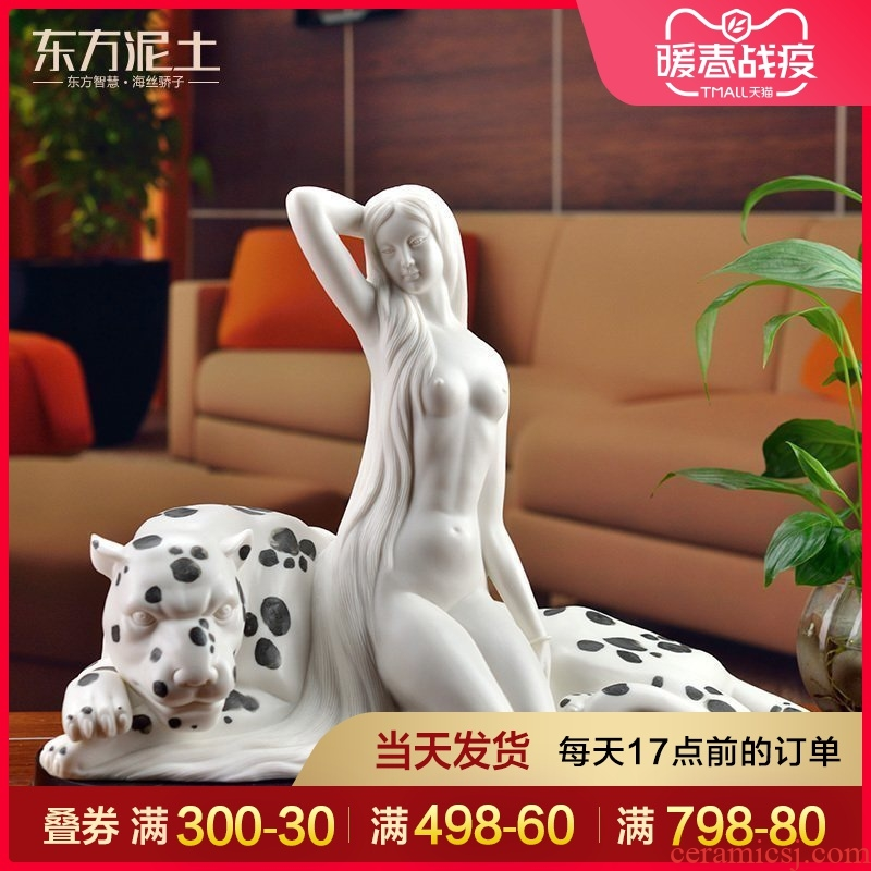 Oriental clay ceramic beauty porcelain carving furnishing articles creative home sitting room decorative furnishings/my alter ego D02-10