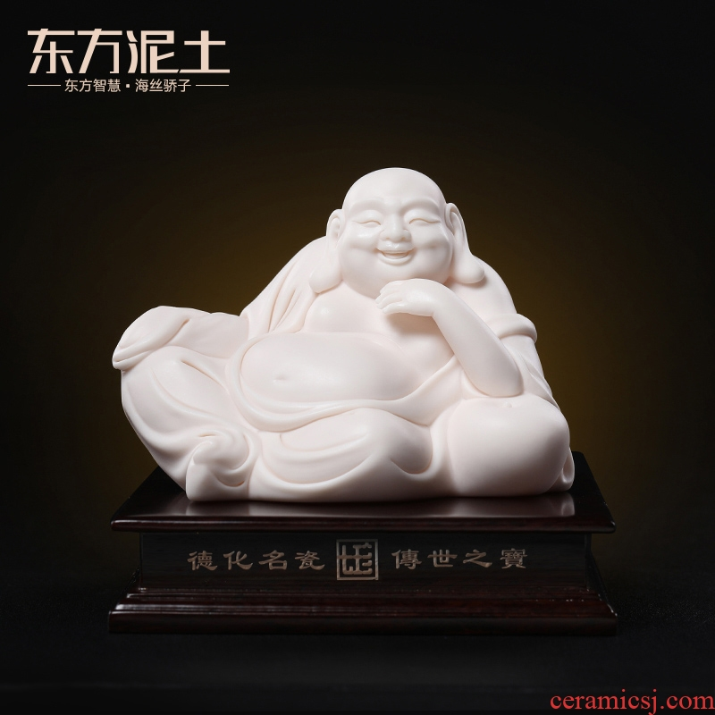 Oriental clay ceramic primer maitreya buddhist car furnishing articles at the provincial level in master jian - pin Lin carving craft work