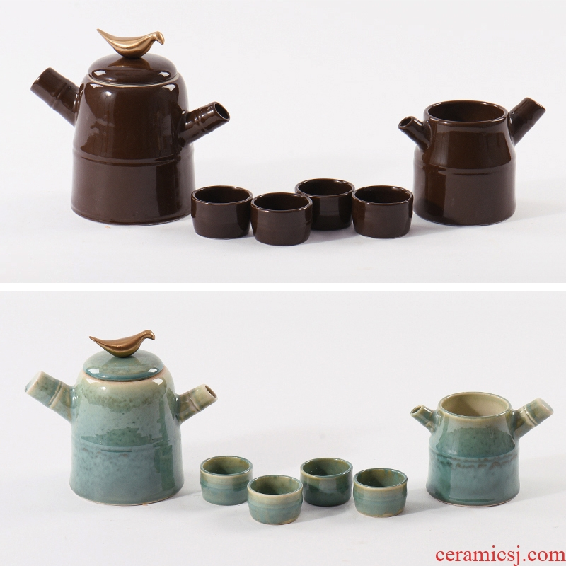 New Chinese style ceramic tea sets tea pot furnishing articles example room sitting room tea table process tea tea soft decoration