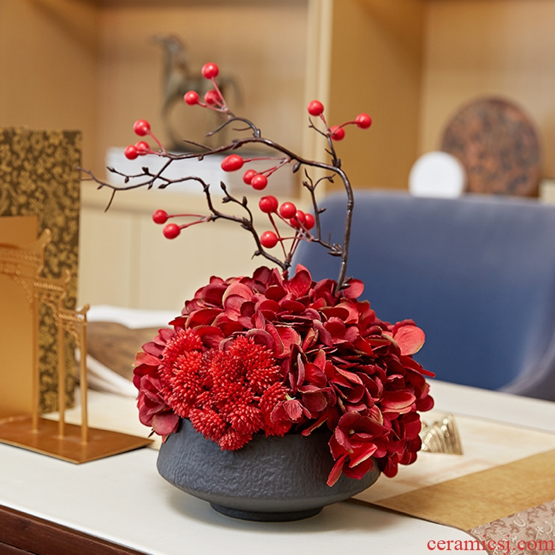 Chinese style restoring ancient ways floret bottle of new Chinese style ceramic flower arranging zen furnishing articles, the sitting room porch ark, soft adornment is placed
