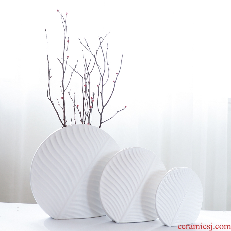 Nan sheng Nordic mesa of I and contracted ceramic vase household act the role ofing is tasted furnishing articles ornaments simulation flower, dried flower flower