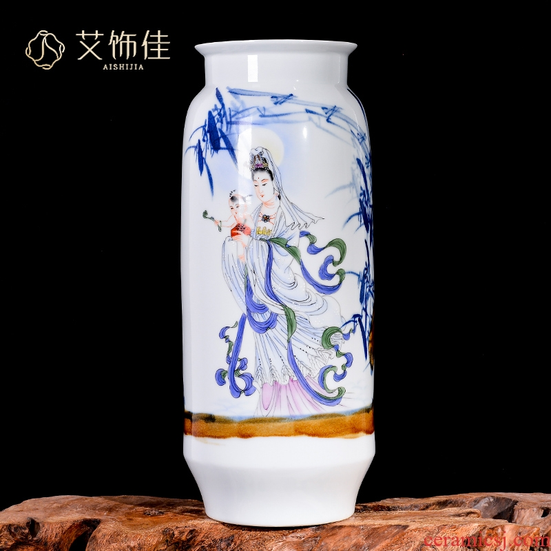 Jingdezhen ceramics hand - made SongZi guanyin flower arranging new Chinese vase sitting room porch TV ark adornment furnishing articles