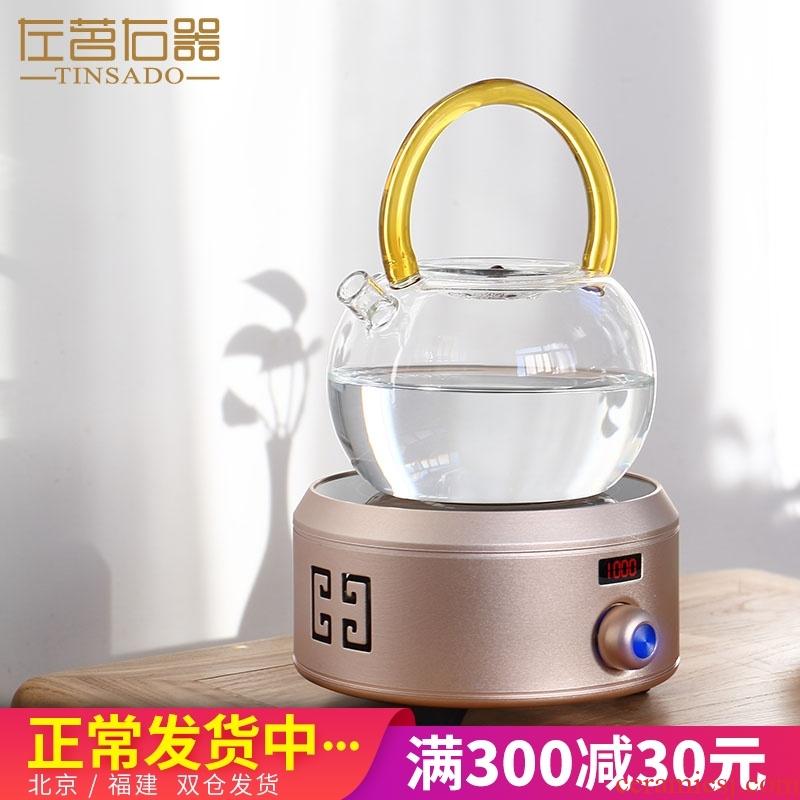 ZuoMing right device small intelligent steam electric TaoLu.mute tea stove glass teapot burn boiled tea tea set tea service