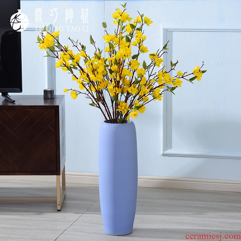 Lou qiao window decoration furnishing articles clothing store dry flower of large vase porcelain child continental high retro flower arrangement is long branches