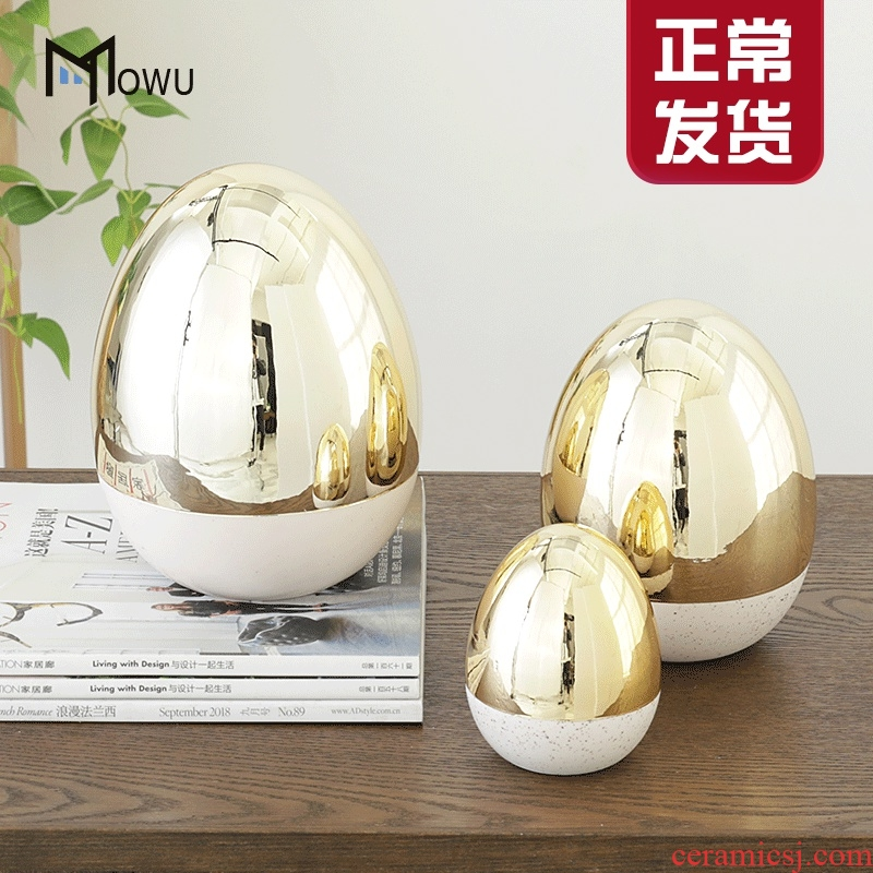 The house, The Nordic contracted creative ceramic light key-2 luxury gold shell study hall, TV ark, soft outfit furnishing articles household act The role ofing is tasted