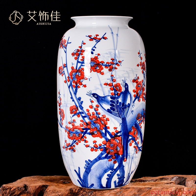 Jingdezhen ceramics hand - made beaming vases, flower arranging new Chinese style living room porch decoration gifts furnishing articles