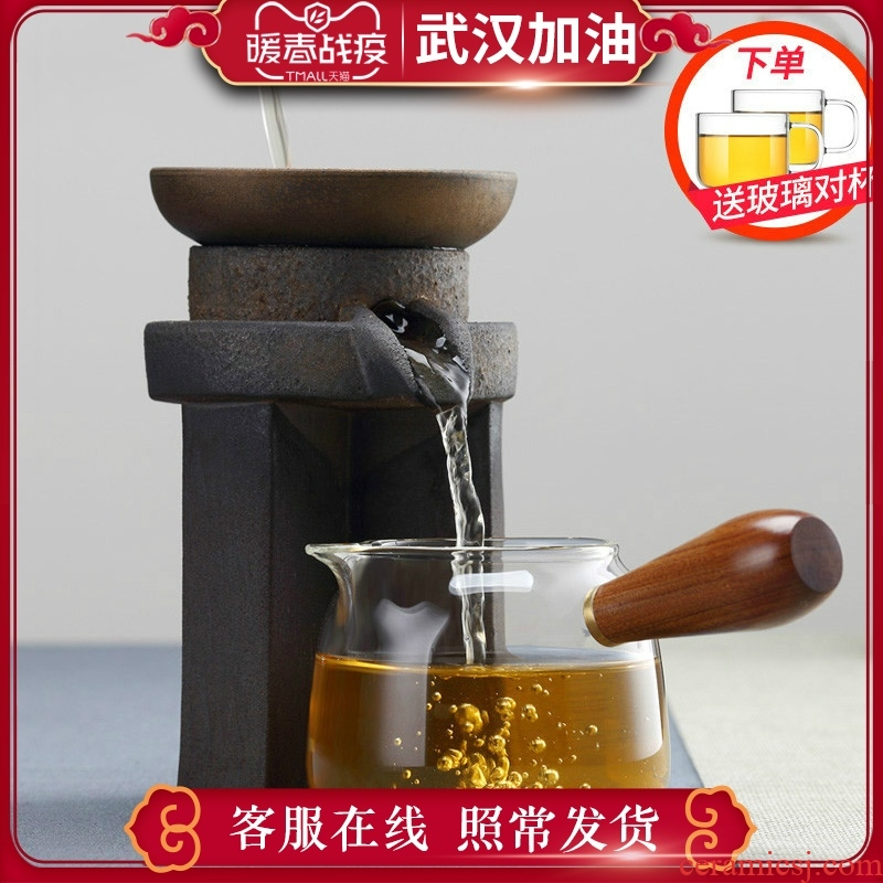 Male) fair keller cup glass ceramic kung fu tea sets the accessories side of the filter tea cup points home