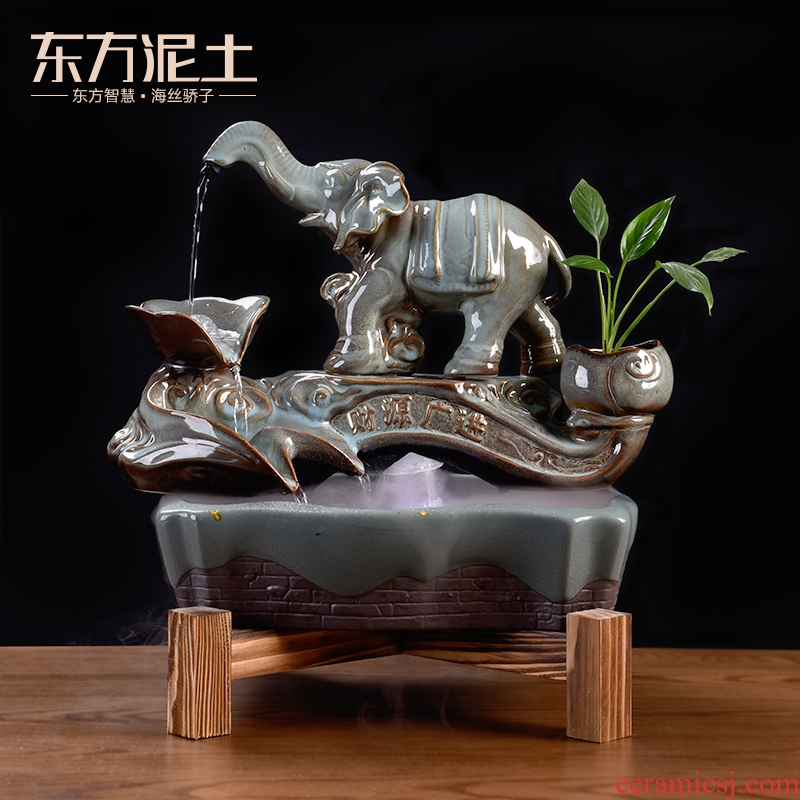 East clay ceramic water furnishing articles creative company version into the opening gifts high - grade/target as well