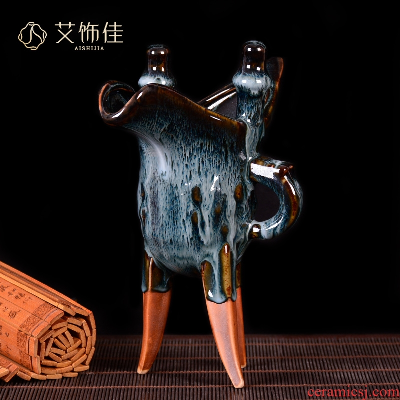 Jingdezhen ceramics vase archaize up CPU furnishing articles Chinese antique living room TV cabinet decoration