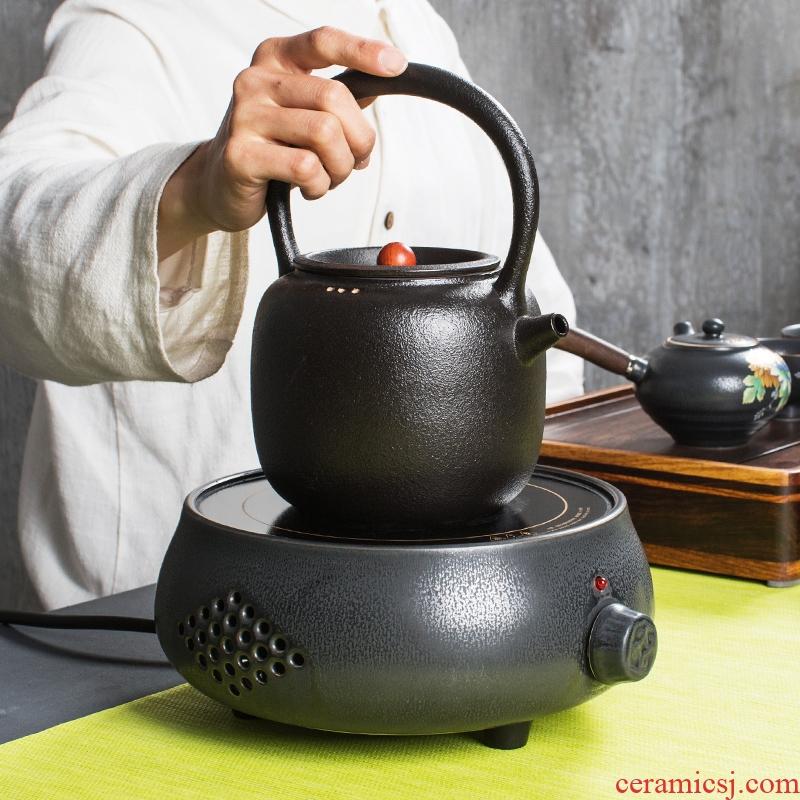 TaoLu NiuRen electricity boiling tea ware ceramic tea stove black tea pu - erh tea black pottery electric ceramic POTS boil water pot home outfit