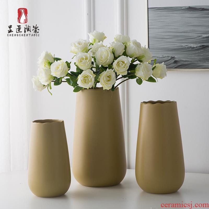 Jingdezhen porcelain vase furnishing articles ceramic bottle arranging flowers sitting room office table northern wind art deco floret bottle