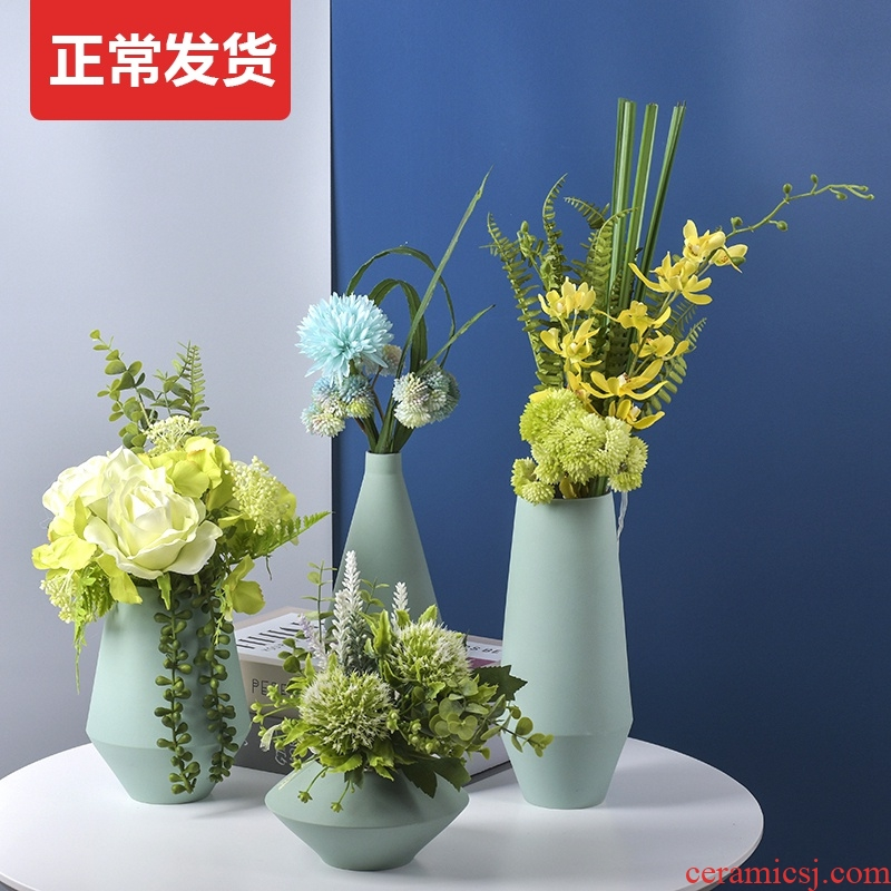 Light and decoration vase dried flowers Nordic sitting room adornment table flower arranging TV cabinet ceramic furnishing articles contracted and I style