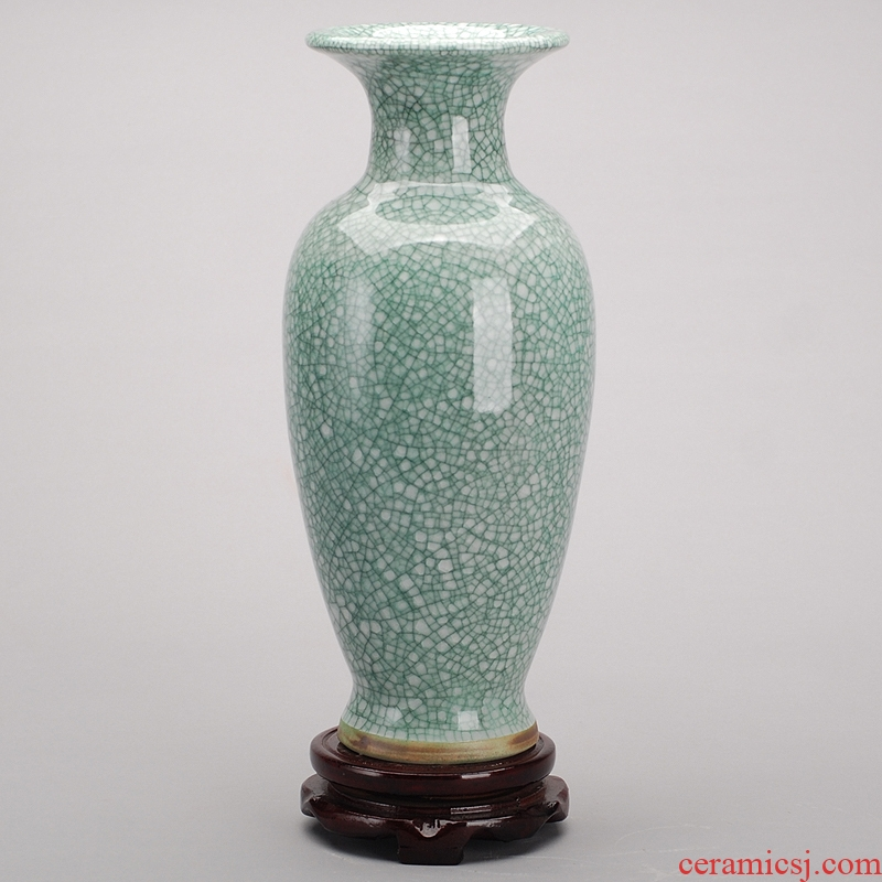 Archaize of jingdezhen ceramics up on crack green glaze borneol vase home sitting room adornment is placed