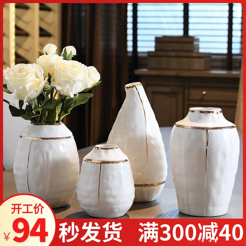 Continental vases, ceramic creative I household large sitting room flower arranging dried flower vase decoration furnishing articles