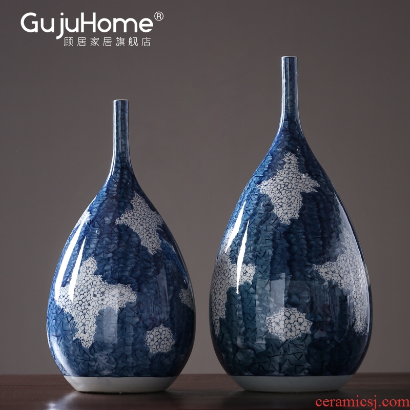 New classical hand - made ceramic vase inserted dried flowers, furnishing articles, the sitting room porch decoration between example soft outfit display decorations