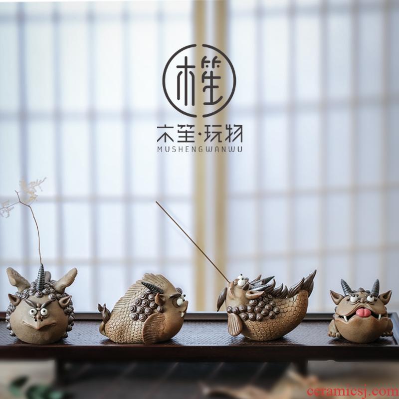 Dragon born nine children creative ceramic gifts office desktop move pottery furnishing articles home boutique decoration decoration