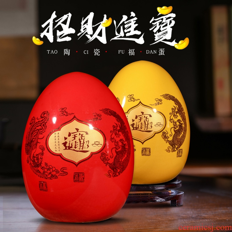 Jingdezhen ceramics decoration furnishing articles large f dense eggs a thriving business sitting room porch decorate gifts furnishing articles