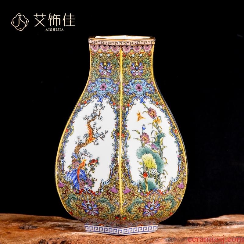 Jingdezhen ceramic vases, antique Chinese style household enamel of the sitting room TV ark, wine flower adornment furnishing articles
