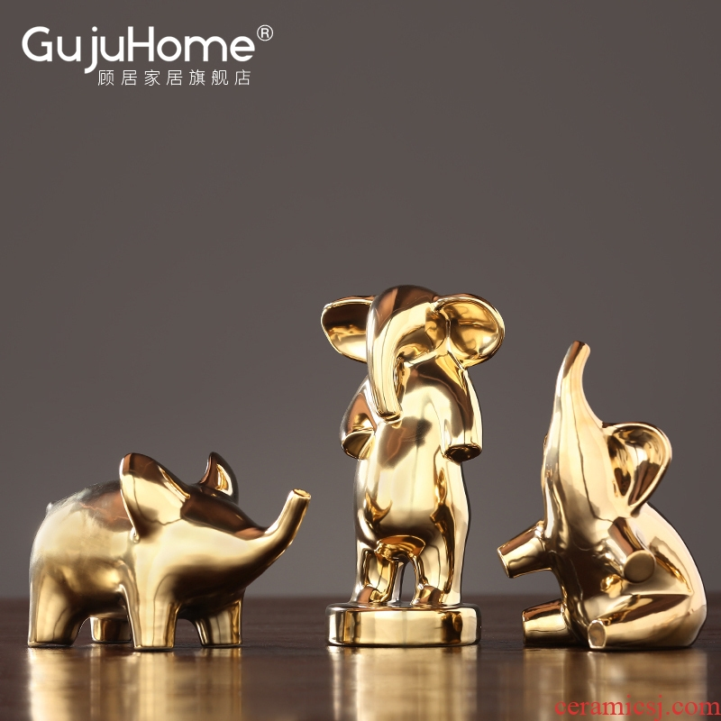 I and contracted north Europe golden ceramic like a place to live in the sitting room TV ark adornment of children room soft outfit decoration