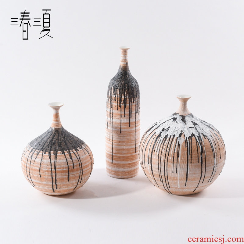 Postmodern new Chinese style ceramic Angle of what belly sitting room porch place sales department manual coloured drawing or pattern of creative vase