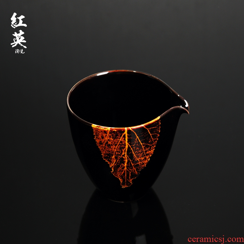 Hongying jizhou up ceramic konoha temmoku light fair jingdezhen kung fu tea set tea cups of tea sea points