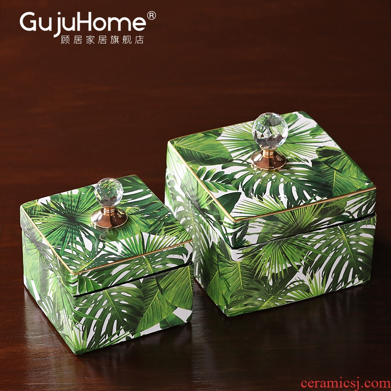 Nordic ceramic receive adornment sitting room dining - room table napkin box household decoration between example desktop soft furnishing articles