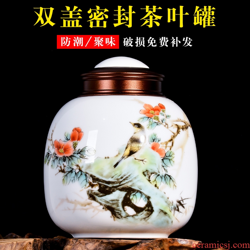 Jingdezhen ceramic portable pastel caddy fixings storage tank storage POTS Chinese style household receives decorative crafts
