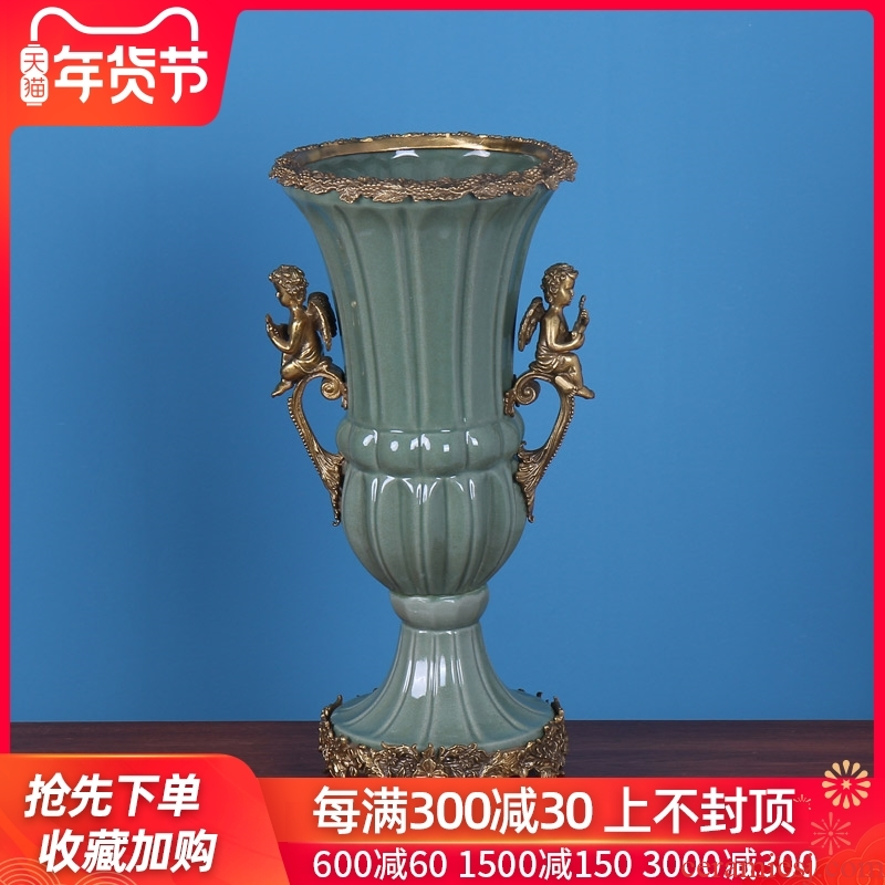 European ceramic vases, restoring ancient ways is the sitting room porch place, dry flower, flower decoration household soft adornment example room