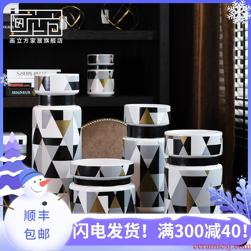 Furnishing articles between example cubic I and contracted made pottery and porcelain vase decoration household soft outfit sitting room adornment