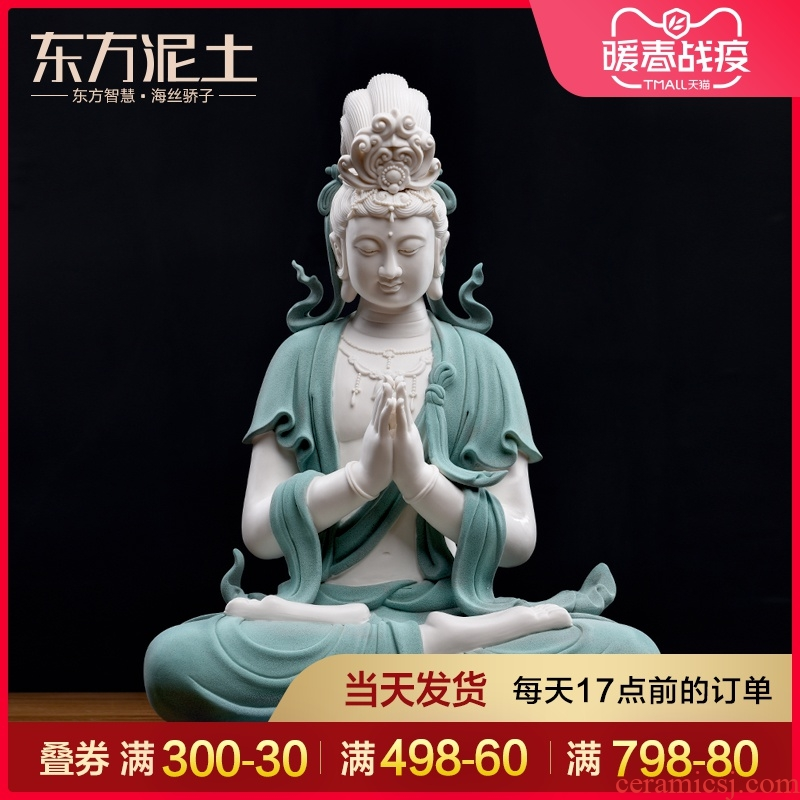 Blessing of Oriental clay ceramic guanyin furnishing articles dehua white porcelain its art club house sitting room porch decoration