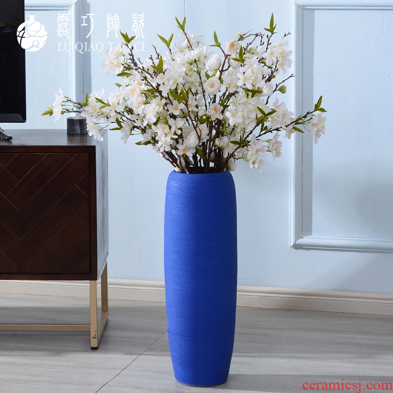 Lou qiao Jane beauty ceramic vases, large sitting room ground POTS of Europe type restoring ancient ways of creative dried flower flower implement furnishing articles