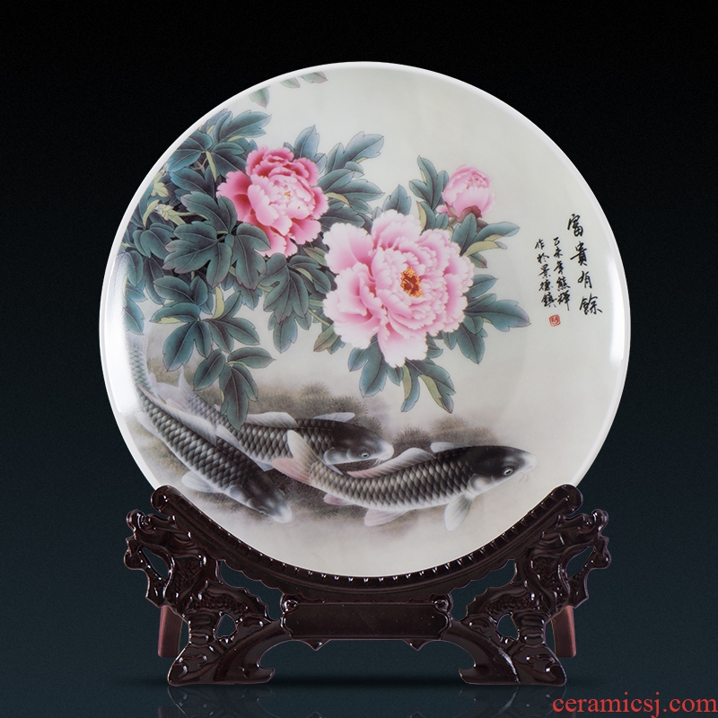 Jingdezhen ceramic hang dish decorative plate setting wall is wining years Chinese role ofing wall act the role ofing hang act the role of the sitting room