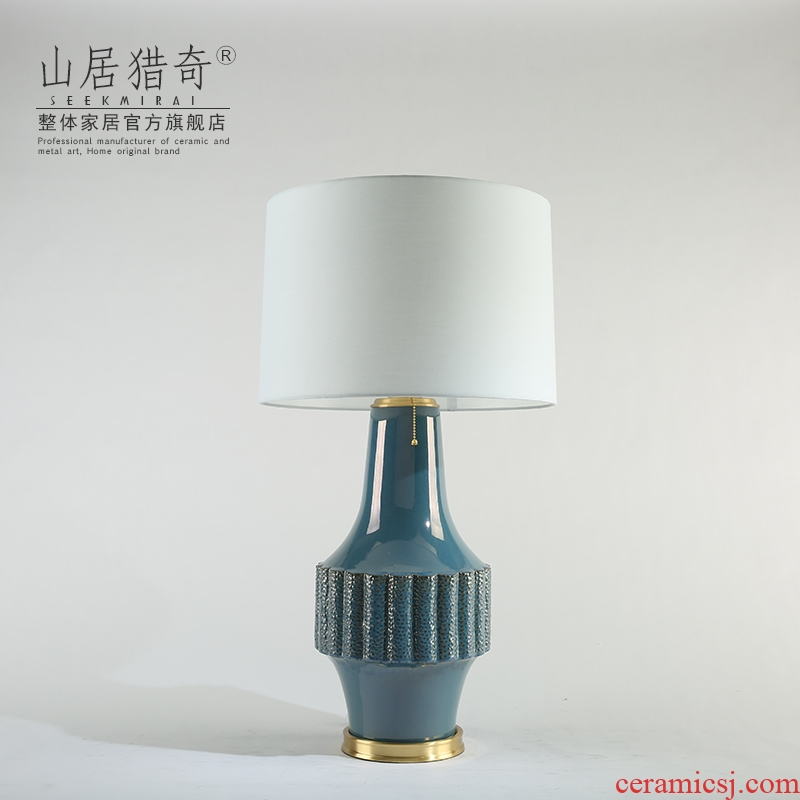 New classical household sample room sitting room bedroom nightstand adornment lamp furnishing articles creative ceramic lamp