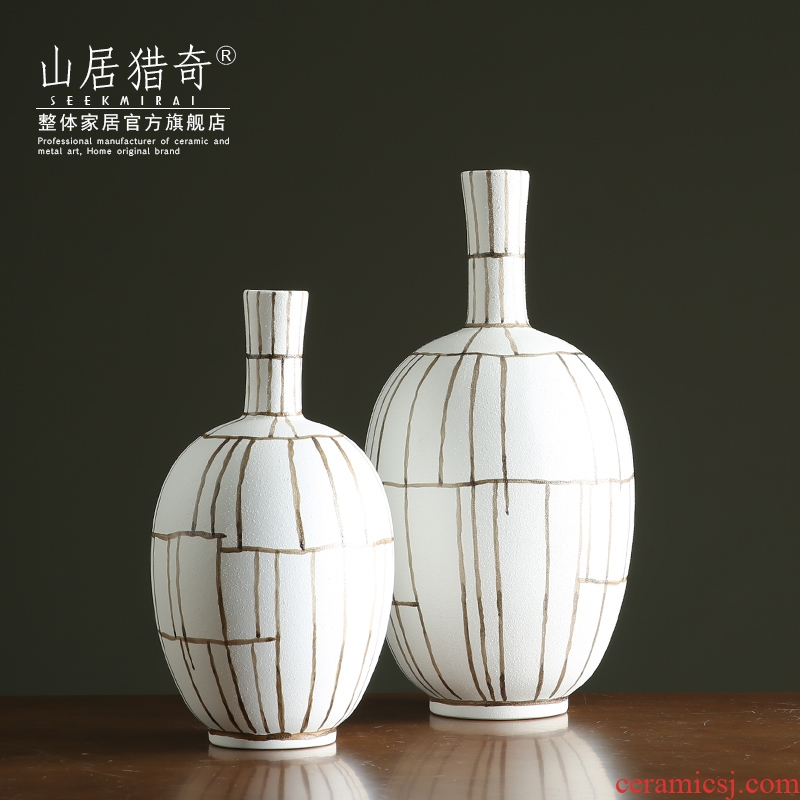 Nordic breeze white ceramic paint vase is contracted and I sitting room fine expressions using flower arranging flowers, table decoration furnishing articles