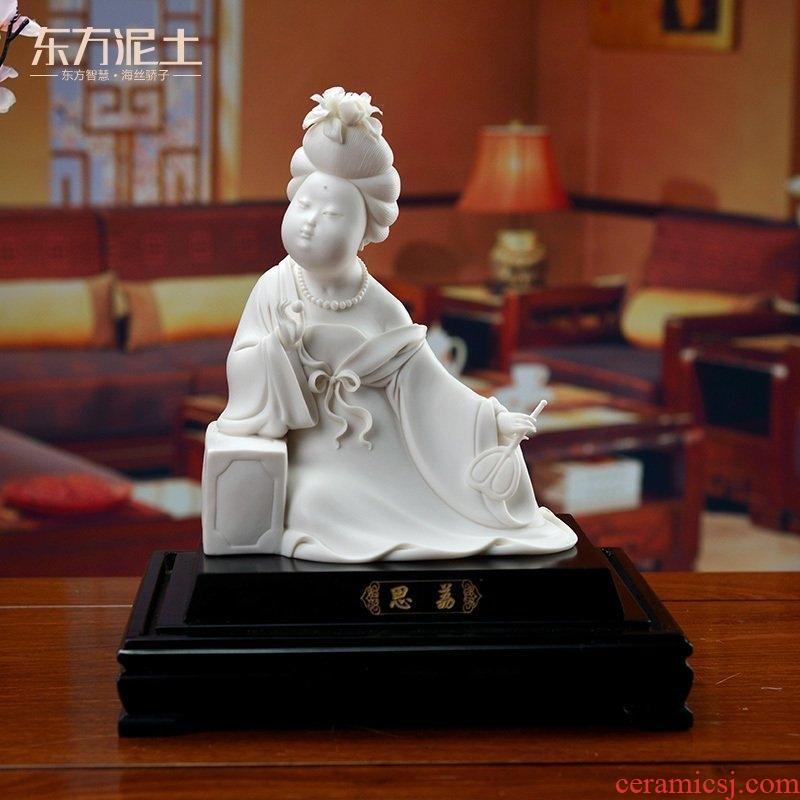 Oriental soil dehua white porcelain its handicraft with modern Chinese TV ark, desktop furnishing articles/li D44-07
