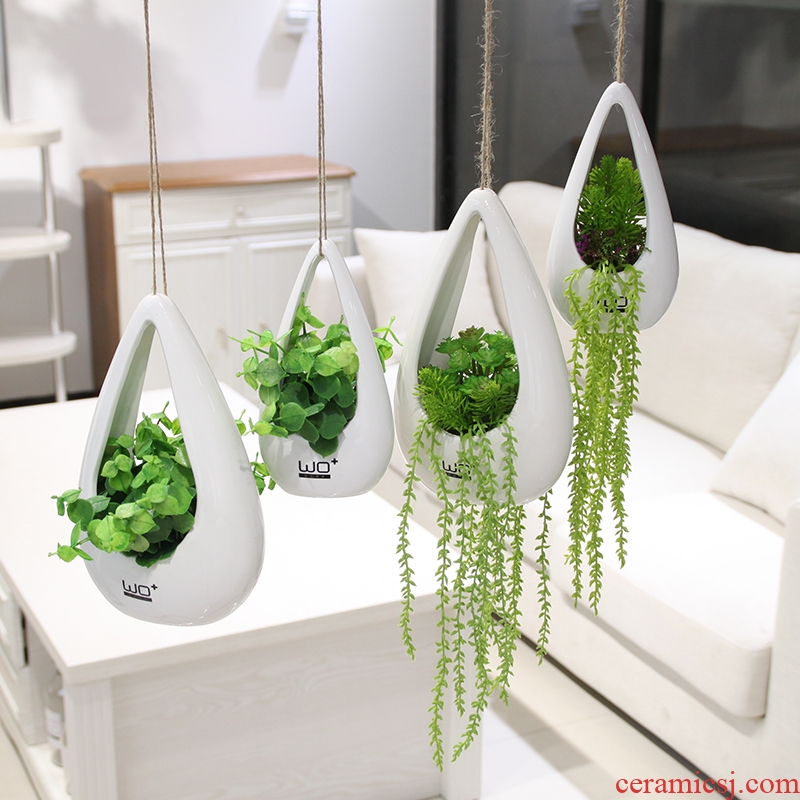 The Send + ceramic infusion bag or bottle furnishing articles simulation flowers, artificial flowers, flower arrangement with berries, I and contracted and pure and fresh household adornment flowers
