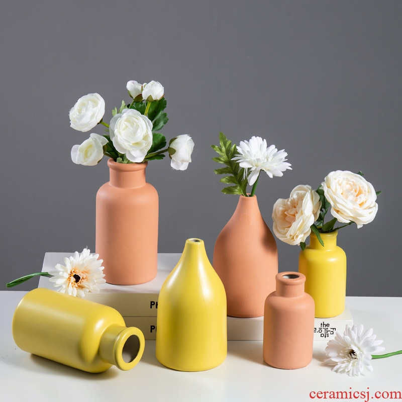 Nordic creative home, ceramic vases, flower, flower implement I sitting room desktop contracted office furnishing articles ornament