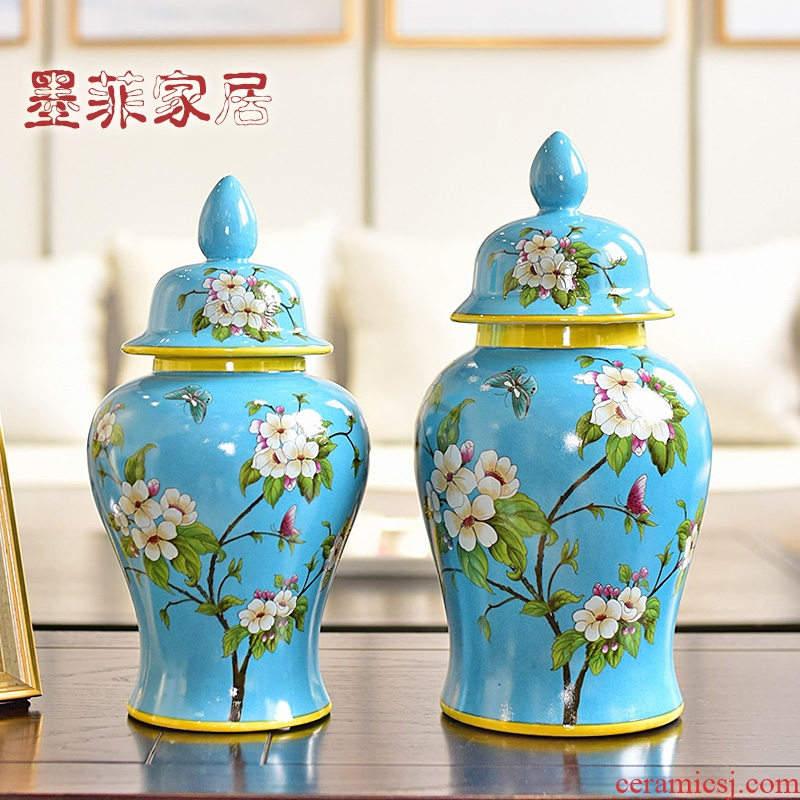 New Chinese style classical creative furnishing articles ceramics of TV ark, wine storage tank American sitting room porch decoration decoration