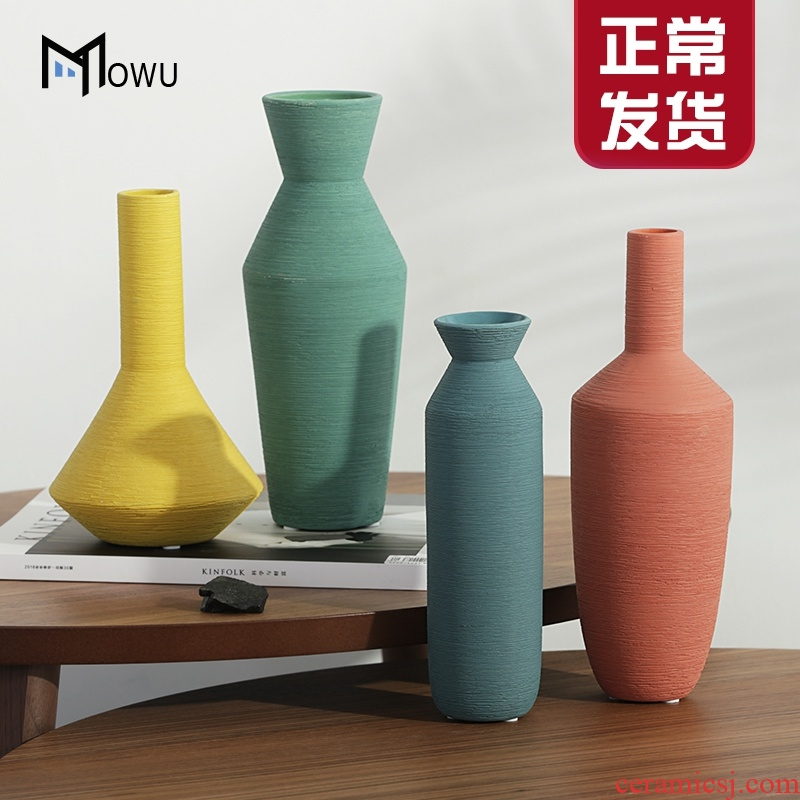 The house morandi color drawing ceramic vase Nordic home furnishing articles dry flower arranging flowers I and contracted sitting room adornment