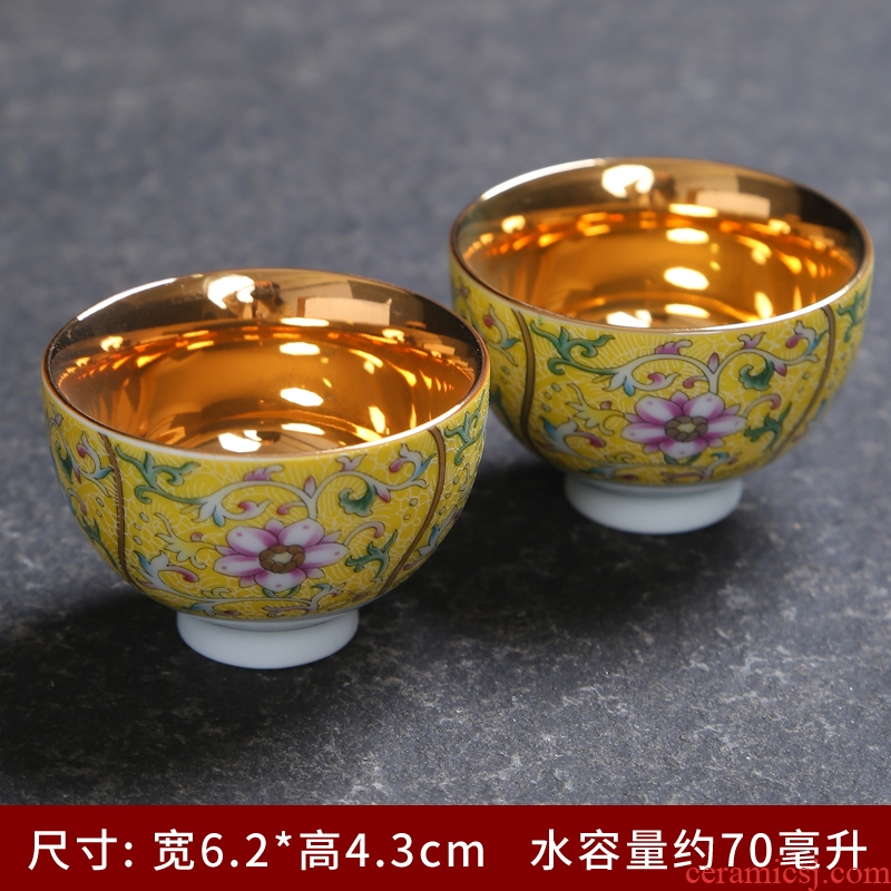 Jingdezhen pastel grilled ceramic individual cup single cup six set household contracted creative hat to suit the cups