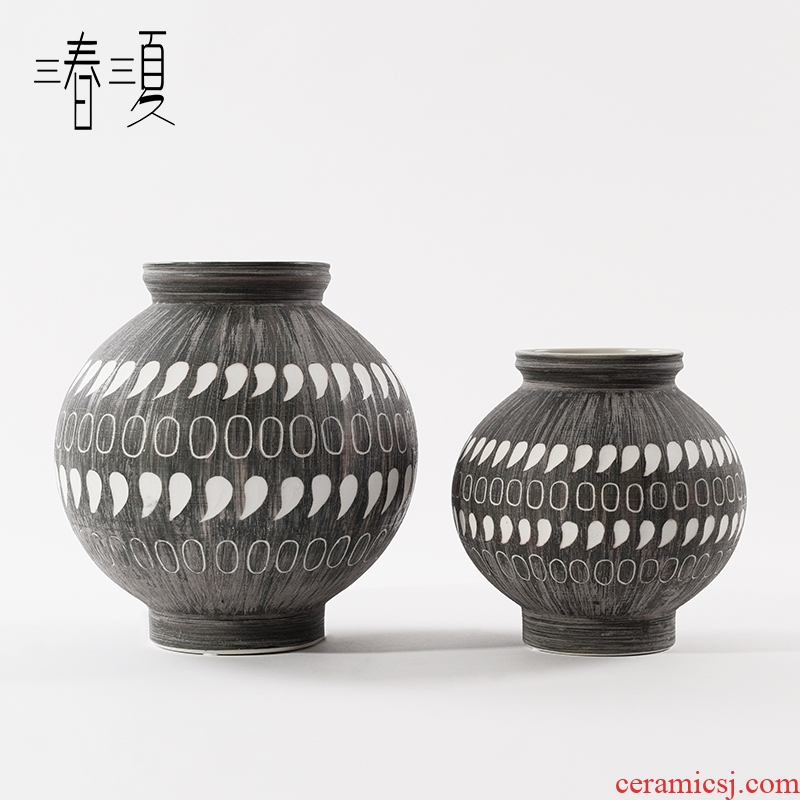 I and contracted manual glaze belly ceramic vase furnishing articles new Chinese flower arranging the sitting room porch canned act the role ofing is tasted