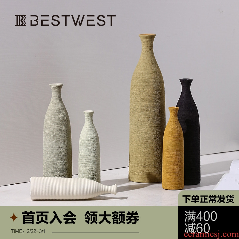 Creative new Chinese style ceramic vase furnishing articles living room table dry flower vases, soft light decorations decoration key-2 luxury restoring ancient ways