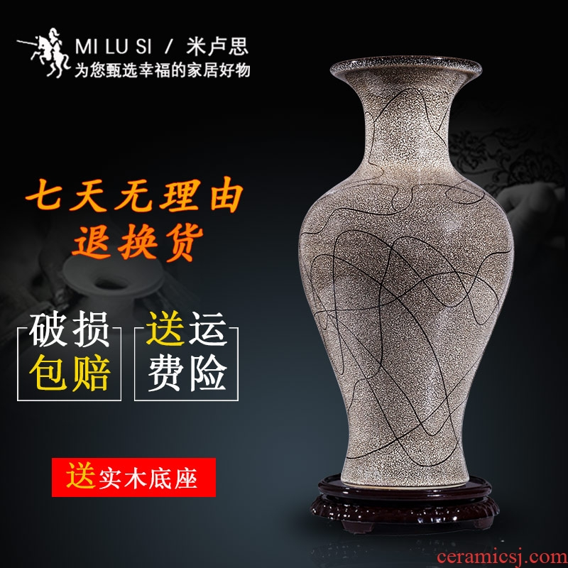 Jingdezhen ceramic furnishing articles blue variable creative flower vase Chinese style living room home furnishing articles