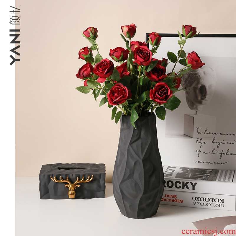 I and contracted sitting room place landing creative flower arrangement home decoration ceramic dry flower vase floral arrangements