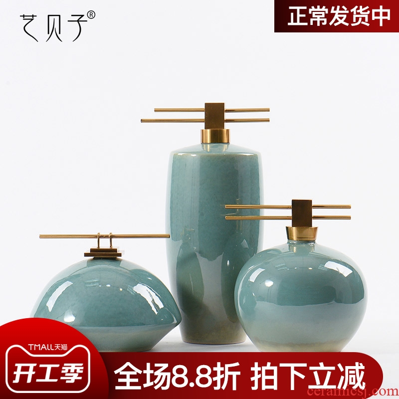 Wine ceramic decoration art BeiZi creative the sitting room porch decoration new Chinese modern soft outfit furniture furnishing articles