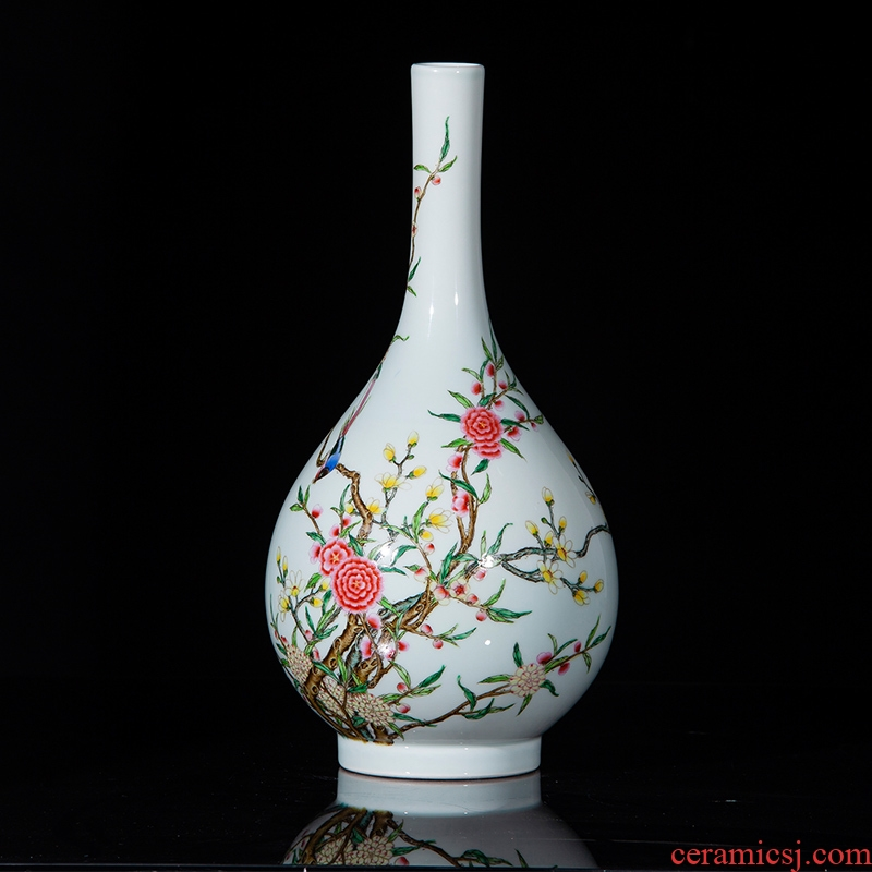 Jingdezhen ceramics archaize the qing qianlong pastel beaming gall bladder sitting room decorative home furnishing articles collection