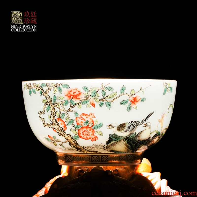 Nine at the masters cup sample tea cup of jingdezhen ceramics hand - made teacup with personal medium kung fu tea cup