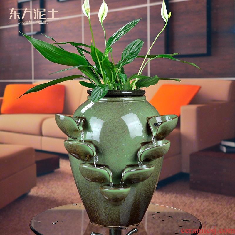 East clay ceramic water bonsai furnishing articles humidifier sitting room office desktop TV ark, home decoration