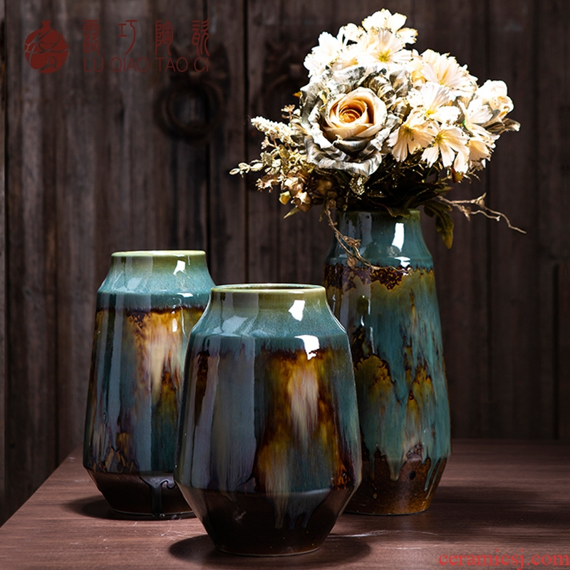 Restore ancient ways opportunely sitting room ceramic vase furnishing articles home ideas dried flowers flower arrangement home TV ark adornment ornament