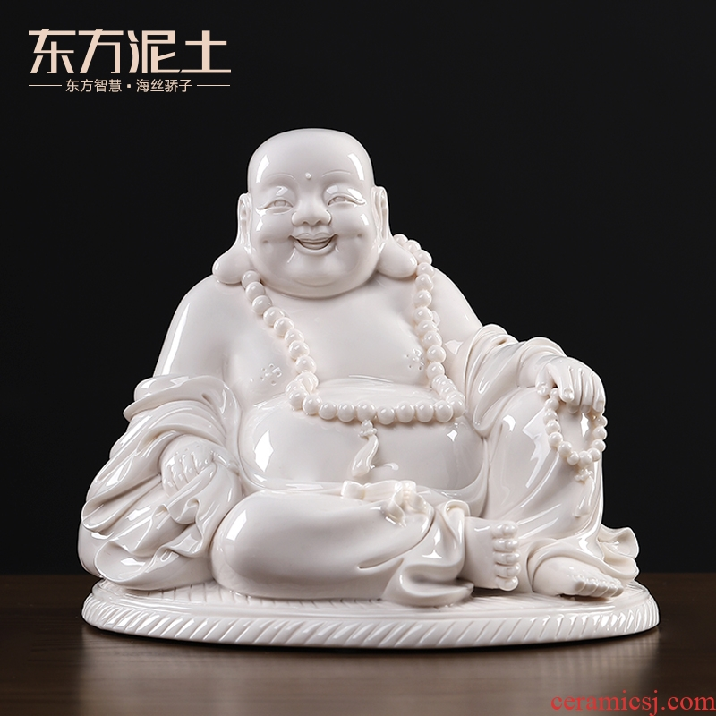 Oriental soil dehua white porcelain its art ceramic laughing Buddha furnishing articles/by futon maitreya D15-83 - a